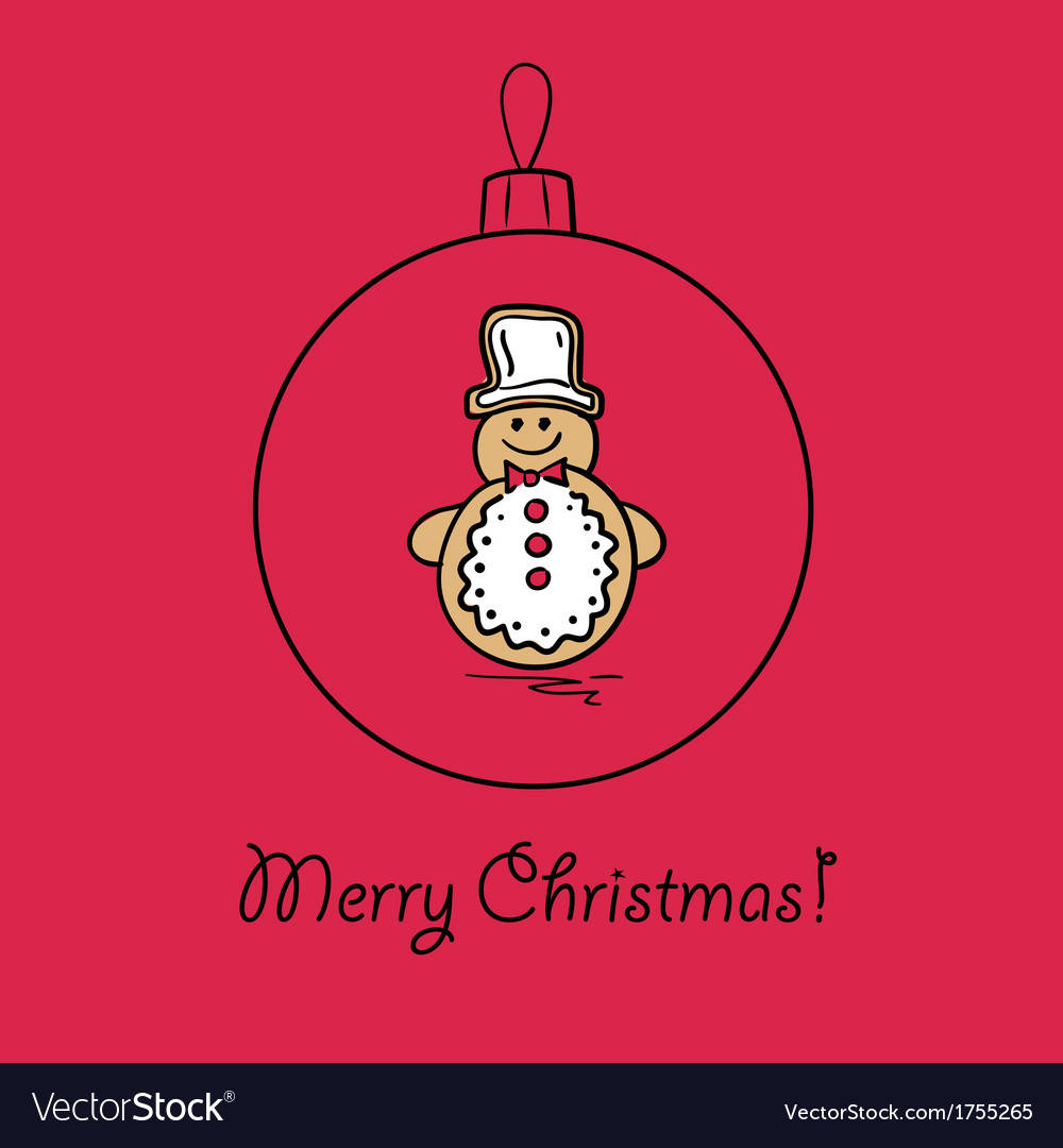 Christmas ball with snowman vector | Price: 1 Credit (USD $1)