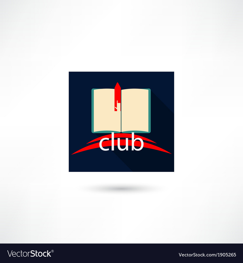 Club book in the square vector | Price: 1 Credit (USD $1)
