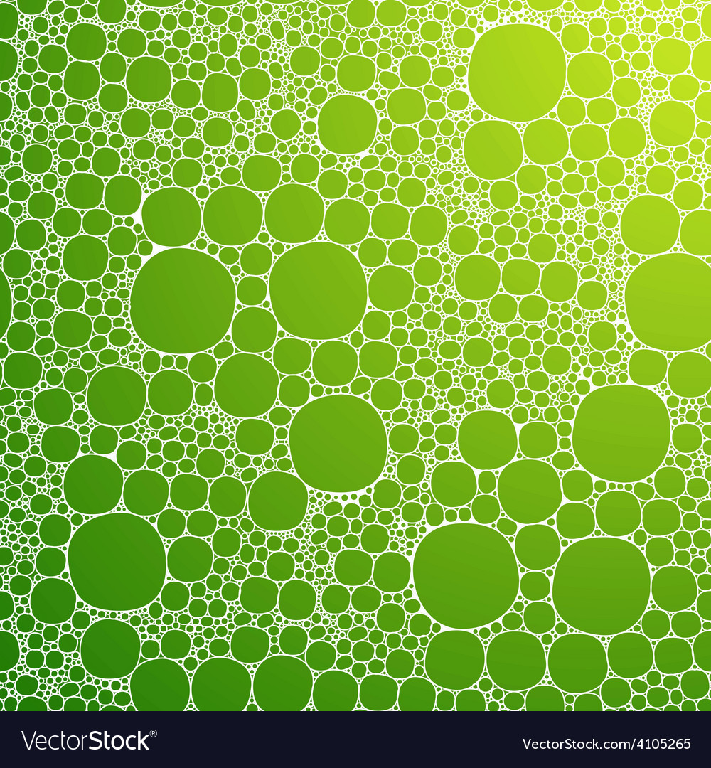 Seamless background foam bubbles white on green vector | Price: 1 Credit (USD $1)