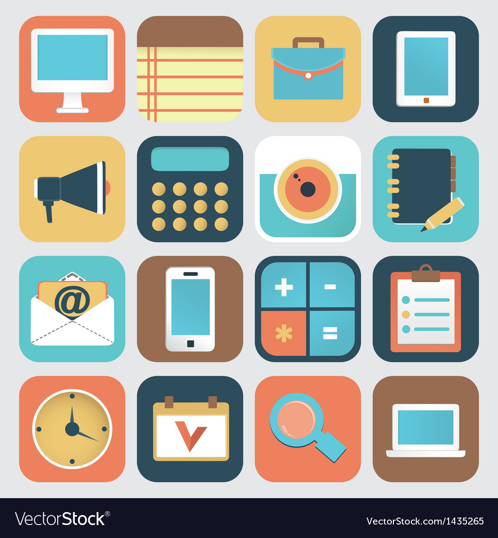 Set of application of social media vector | Price: 3 Credit (USD $3)