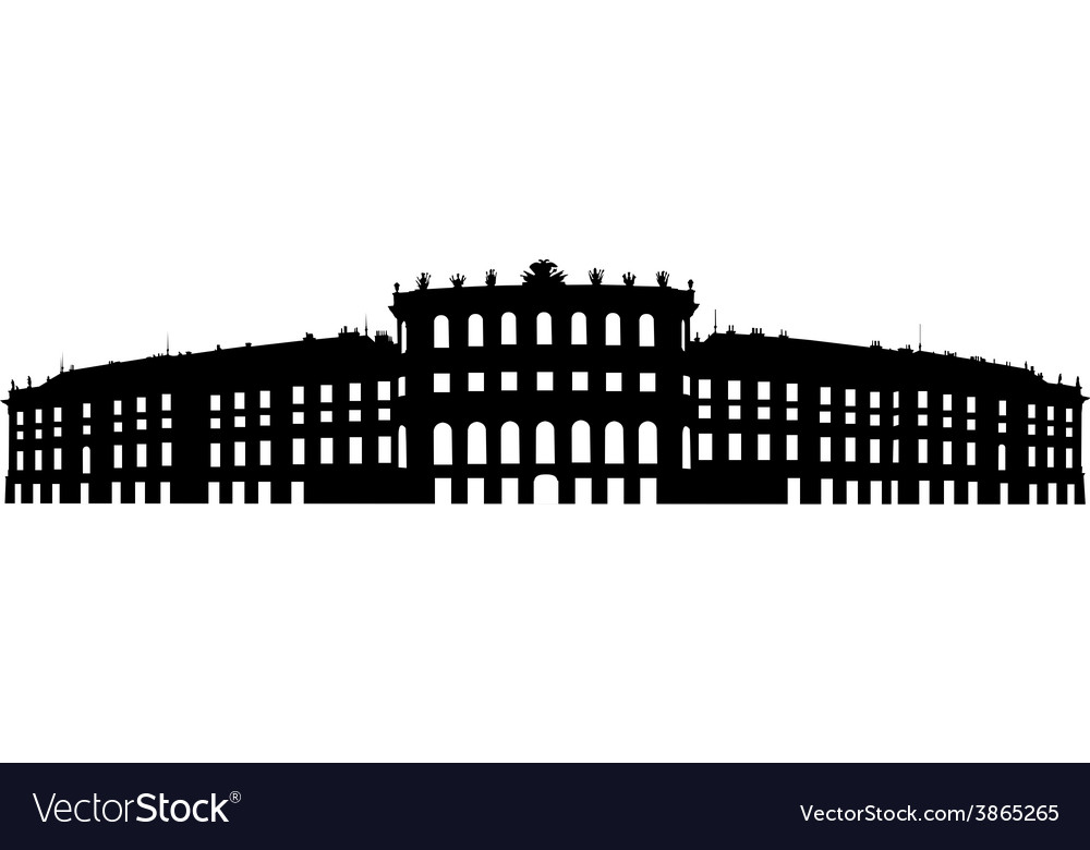 Silhouette of old building vector | Price: 1 Credit (USD $1)