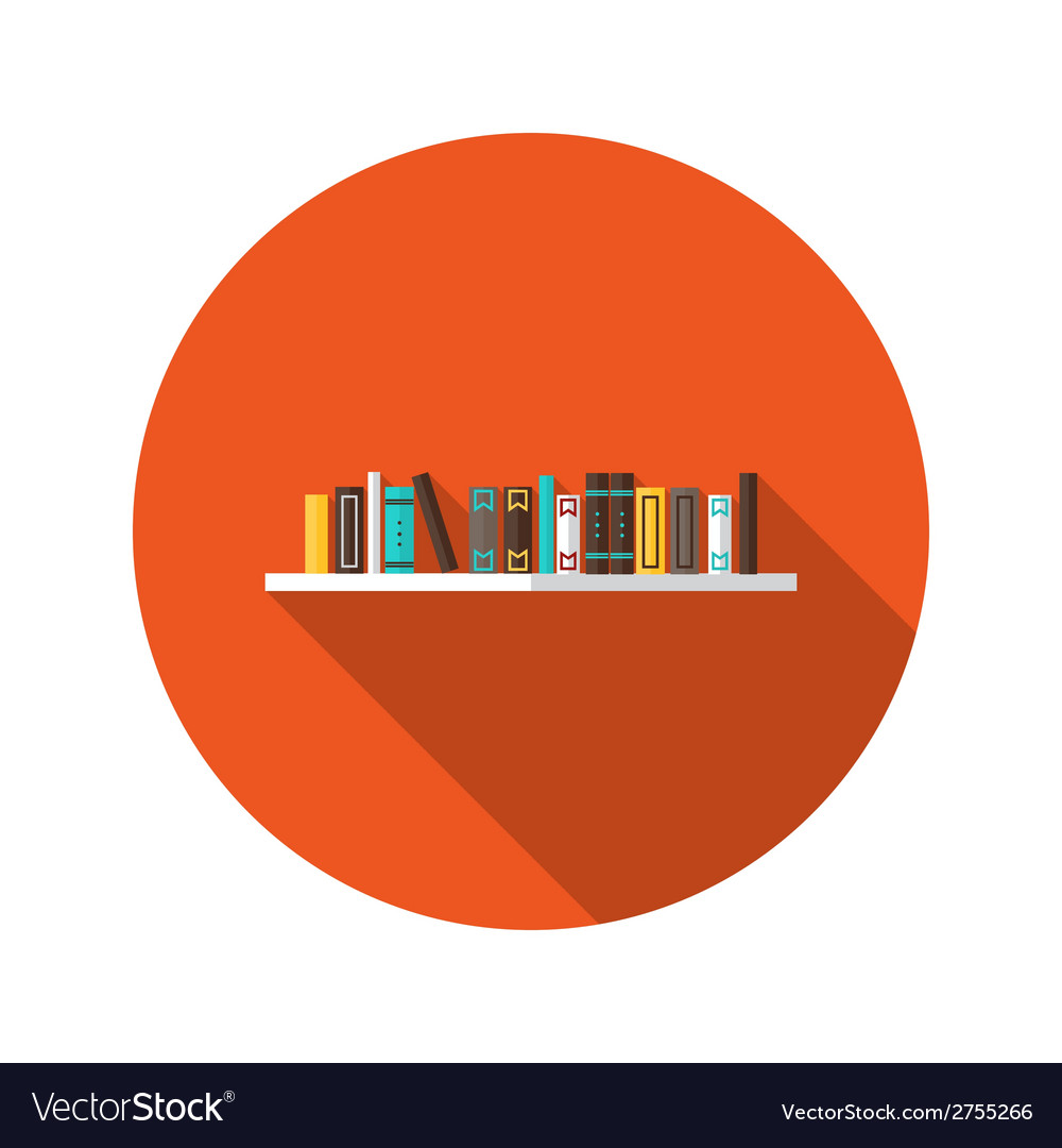 Book shelve flat icon vector | Price: 1 Credit (USD $1)