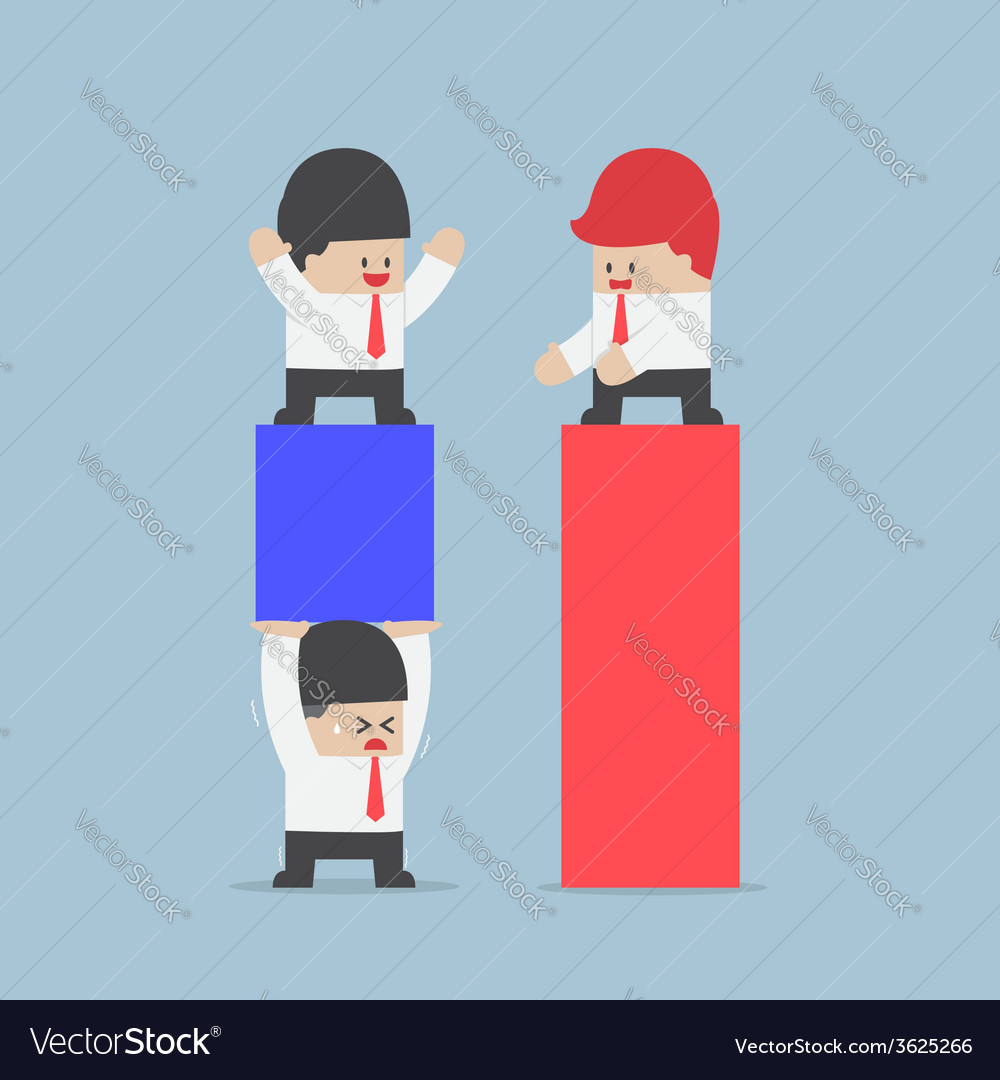 Businessman use his worker to carrying a business vector | Price: 1 Credit (USD $1)