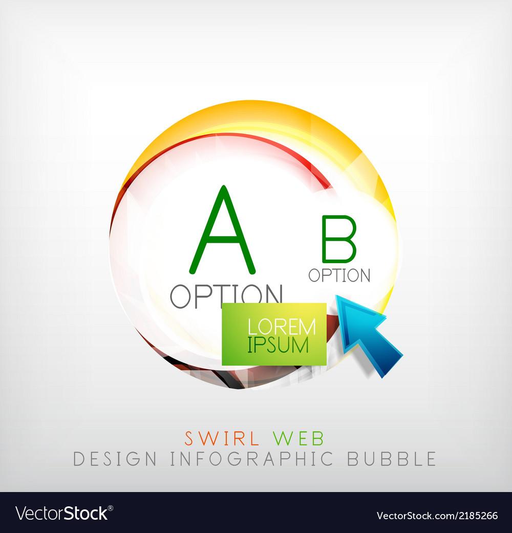 Circle web design bubble  infographic elements vector   Price: 1 Credit (USD $1)