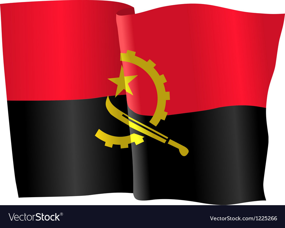 Flag of angola vector | Price: 1 Credit (USD $1)