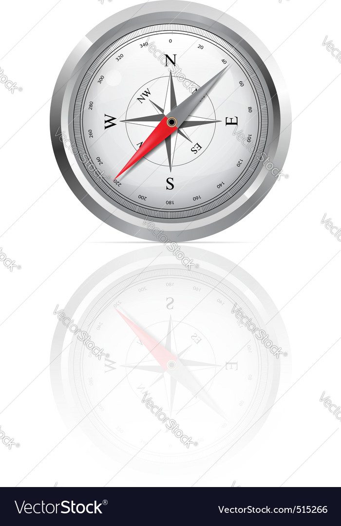 Glossy compass vector | Price: 1 Credit (USD $1)