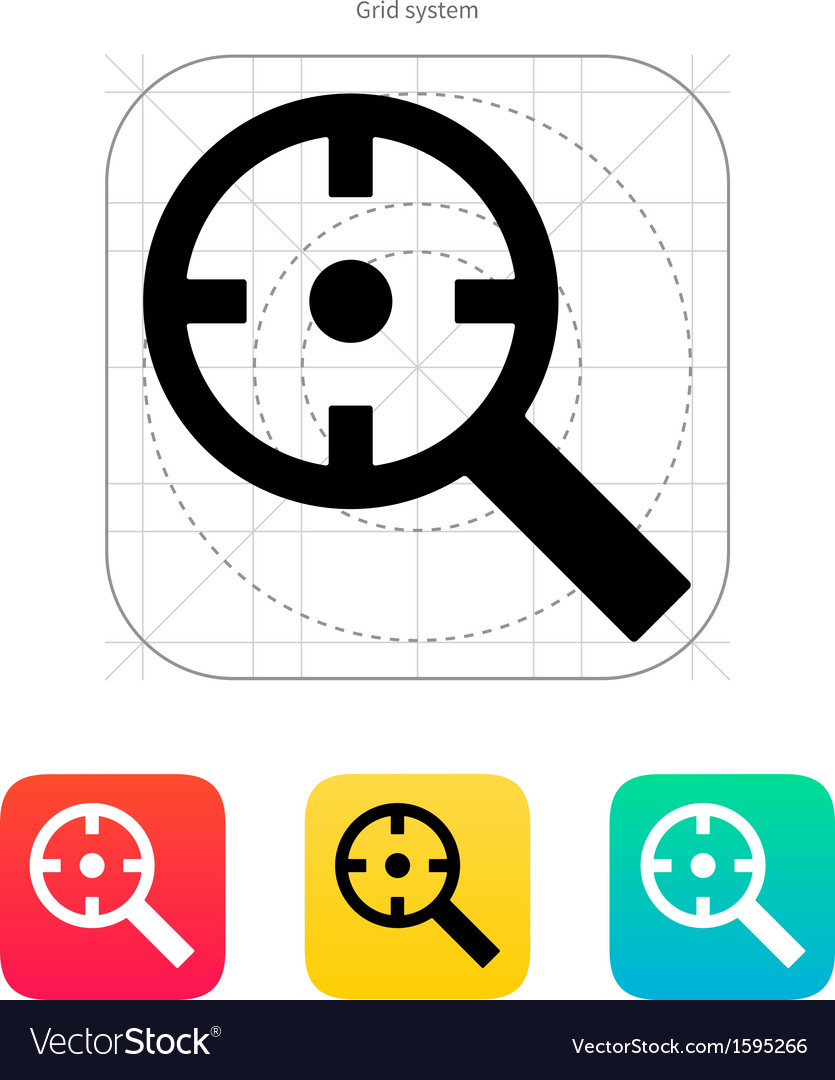 Magnifier crosshair icon vector | Price: 1 Credit (USD $1)