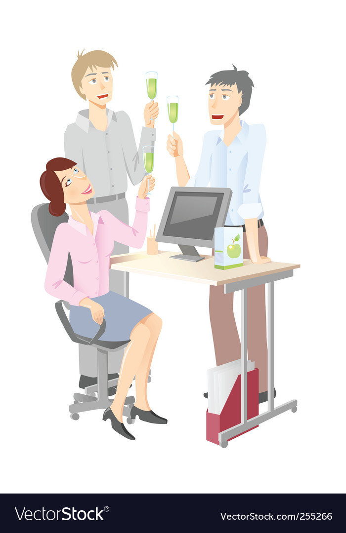 Office celebration vector | Price: 3 Credit (USD $3)