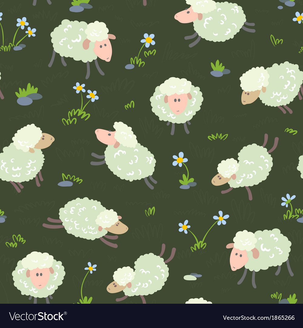Pattern with sheeps vector | Price: 1 Credit (USD $1)