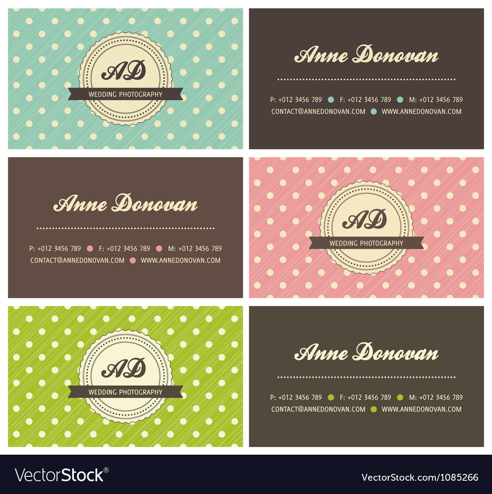 Retro business cards vector | Price: 1 Credit (USD $1)