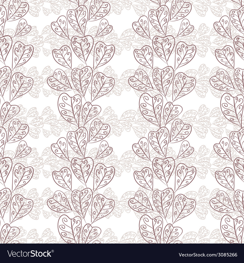Seamless fall leaves pattern floral wallpaper hand vector | Price: 1 Credit (USD $1)