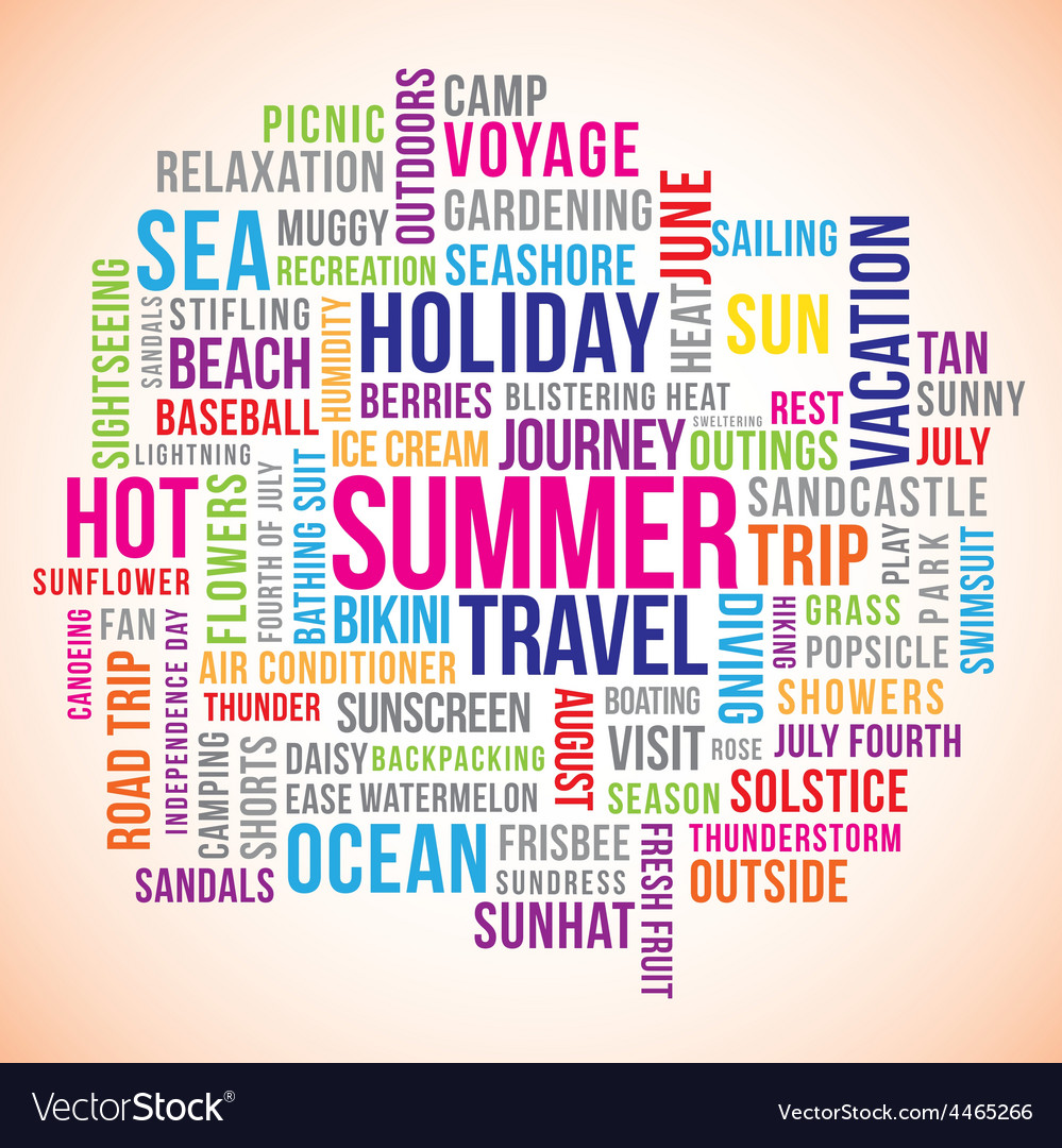 Summer holiday vector | Price: 1 Credit (USD $1)