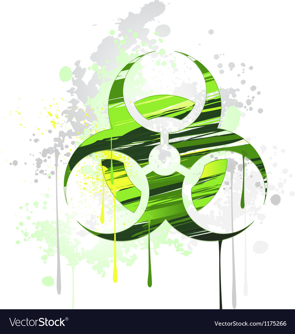 Symbol of biological danger drawn with paint vector   Price: 1 Credit (USD $1)