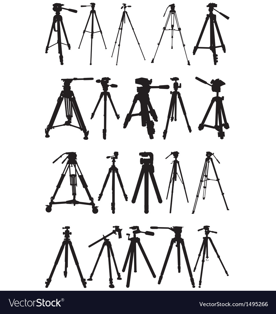 Tripod silhouettes vector | Price: 1 Credit (USD $1)