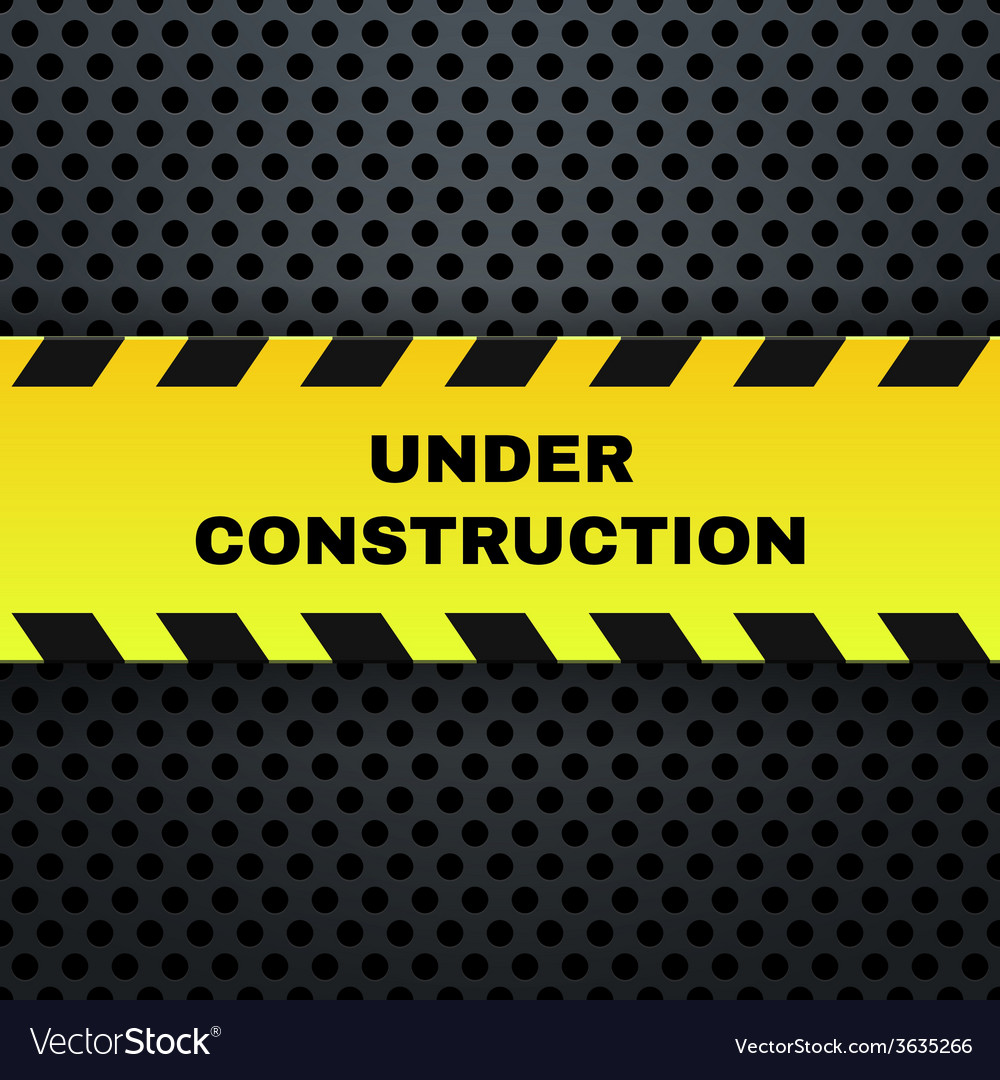 Under construction banner vector | Price: 1 Credit (USD $1)