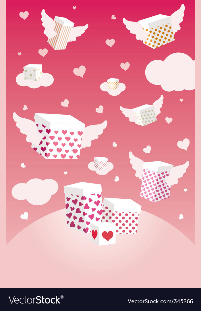 Valentine's day gifts vector | Price: 1 Credit (USD $1)