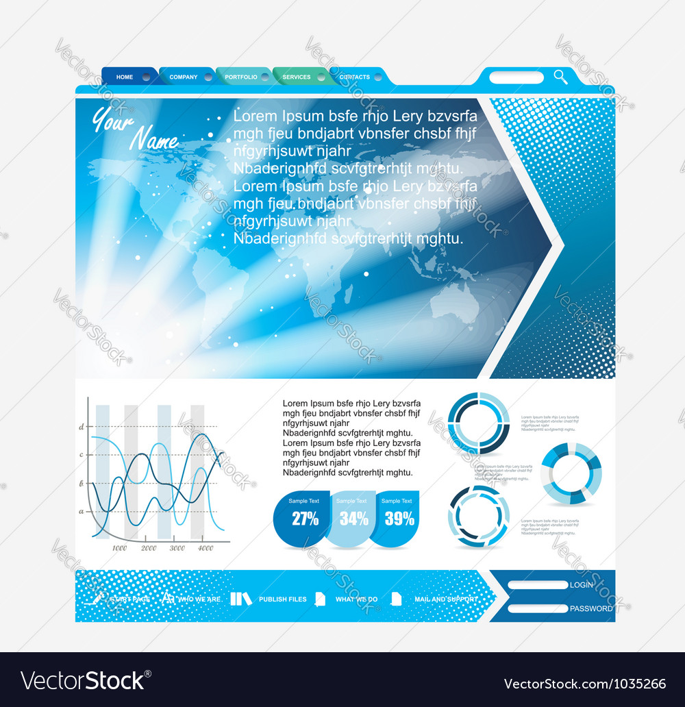 Web page layout design vector | Price: 1 Credit (USD $1)