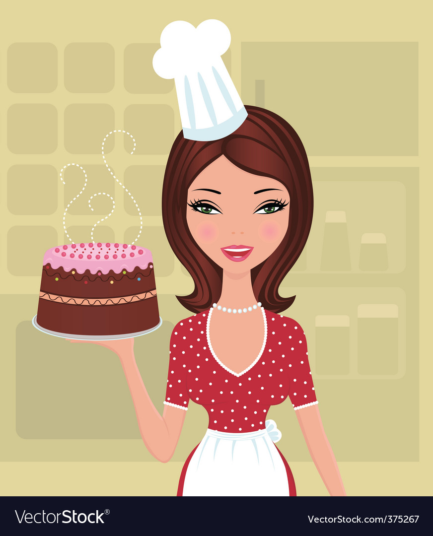 Beautiful baker vector | Price: 1 Credit (USD $1)
