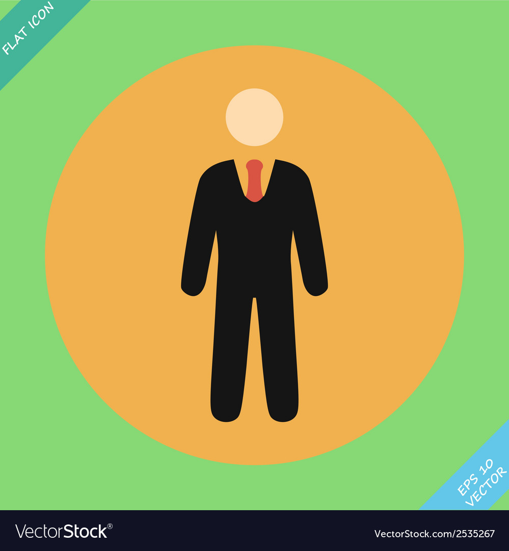 Businessman web icon - vector | Price: 1 Credit (USD $1)