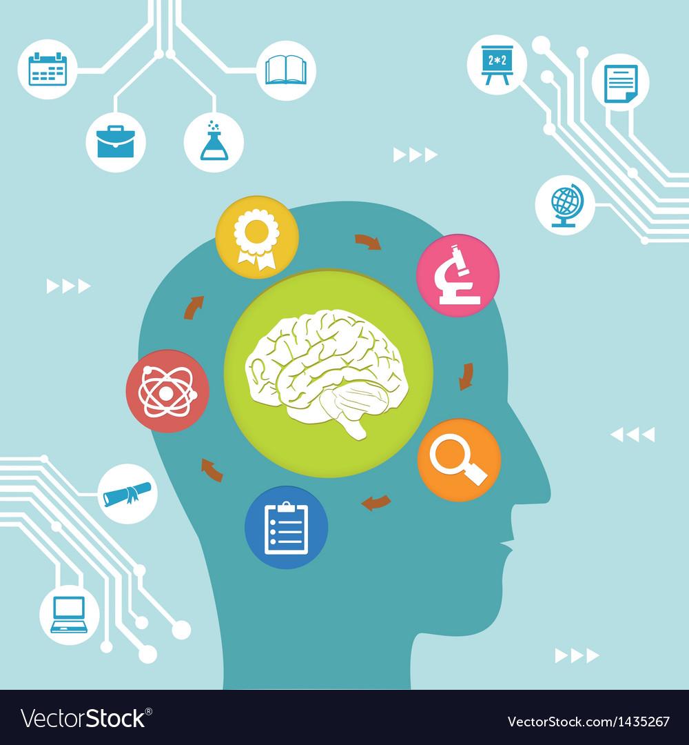 Concept of brain process vector | Price: 3 Credit (USD $3)