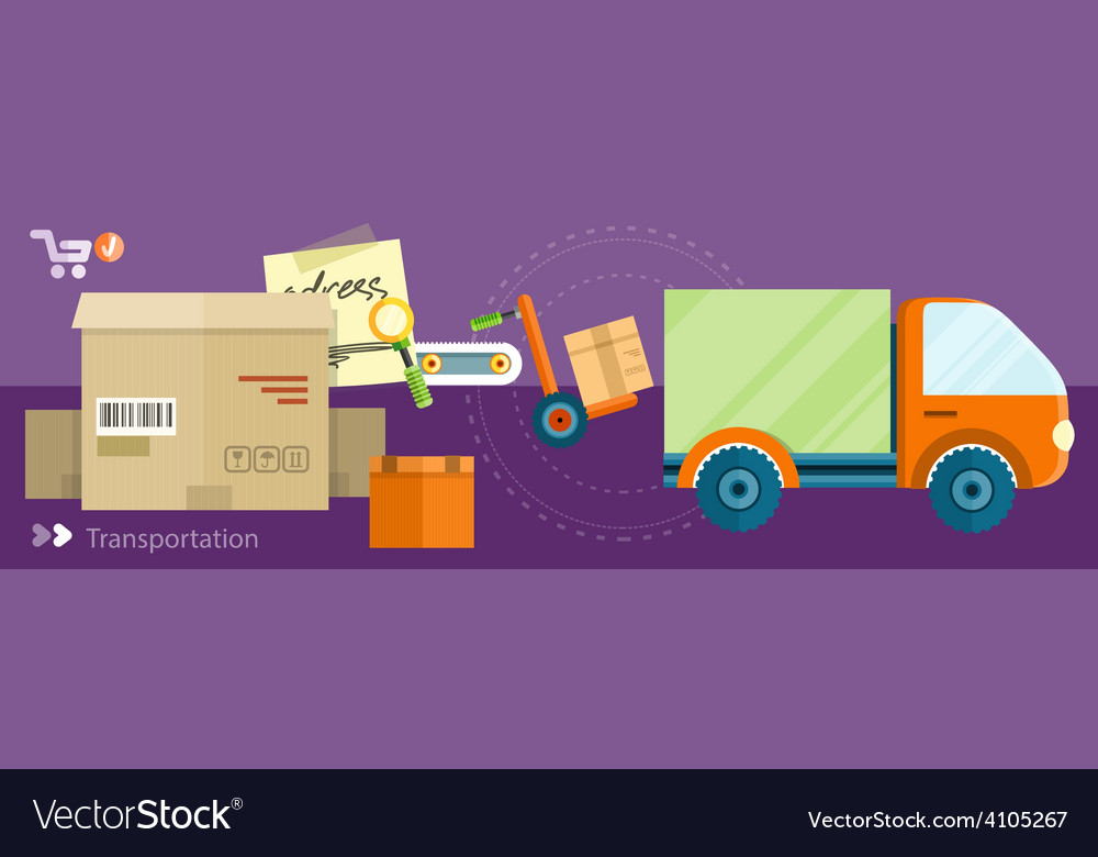 Delivery shipping concept vector | Price: 1 Credit (USD $1)