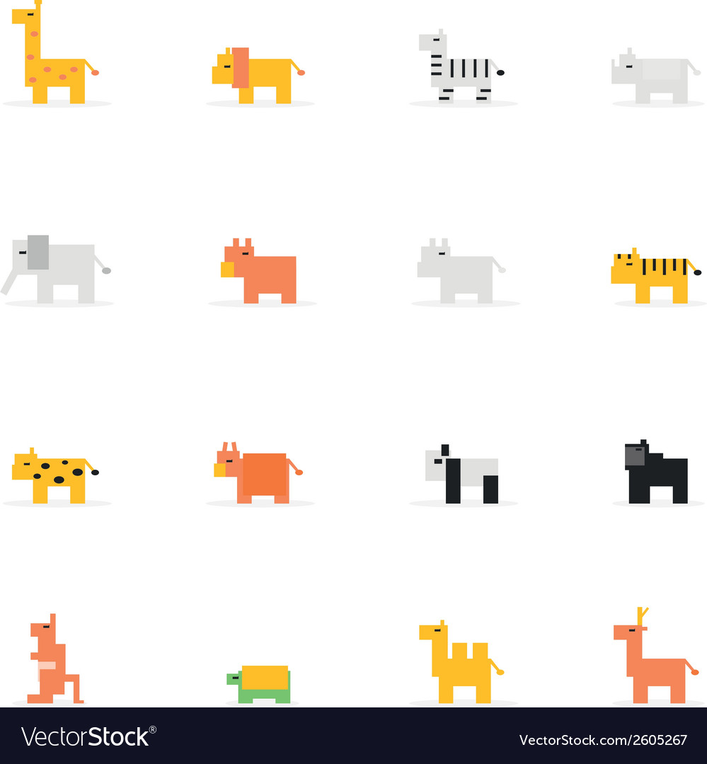 Icon pixel animal vector | Price: 1 Credit (USD $1)