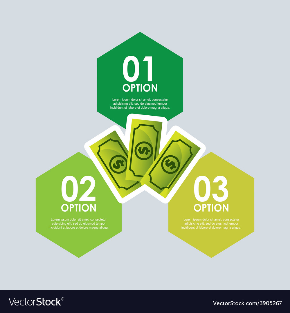 Money infographics vector | Price: 3 Credit (USD $3)