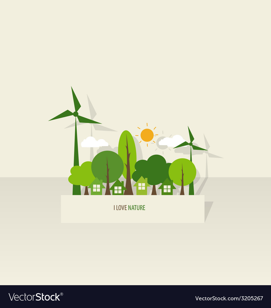 Nature banner paper with trees vector | Price: 1 Credit (USD $1)