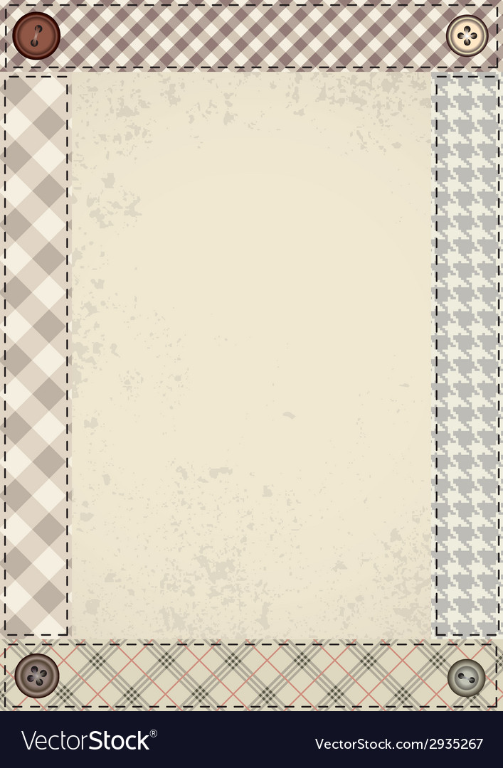Patchwork border vector | Price: 1 Credit (USD $1)