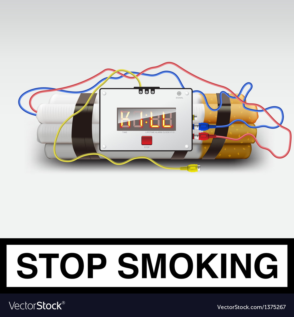 Stop smoking - cigarette bomb vector | Price: 3 Credit (USD $3)