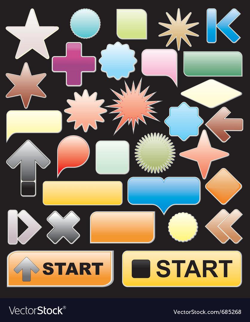 Bright web elements vector | Price: 1 Credit (USD $1)