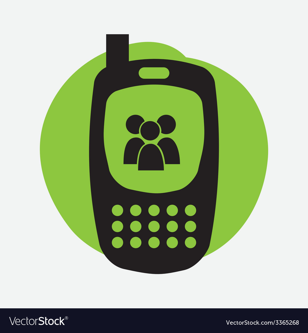 Cellphone design vector | Price: 1 Credit (USD $1)