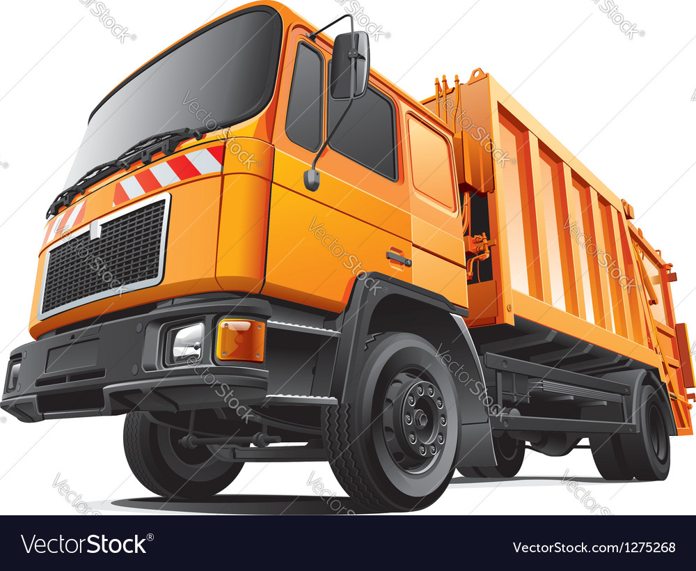Compact garbage truck vector | Price: 5 Credit (USD $5)