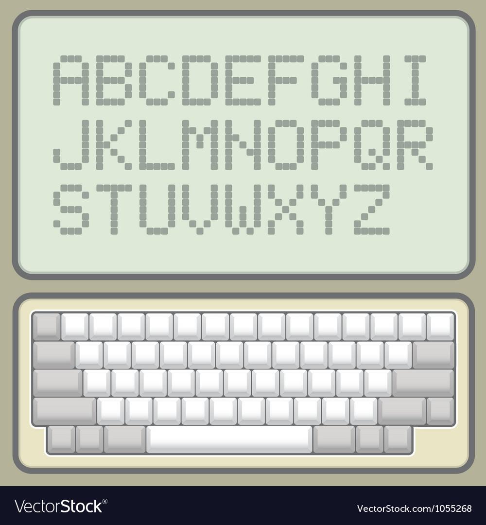 Computer keyboard vector | Price: 1 Credit (USD $1)