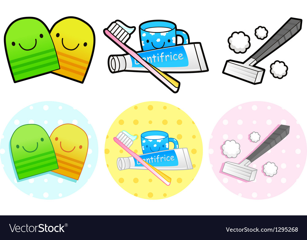 Different styles of toiletries sets vector | Price: 1 Credit (USD $1)