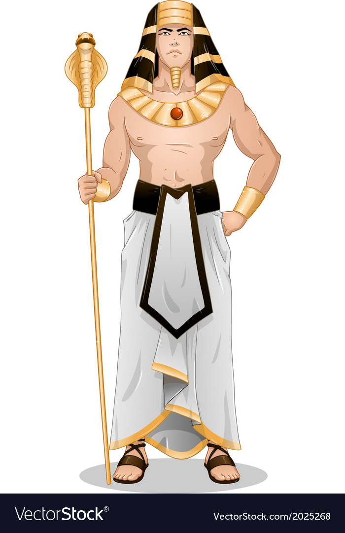Egyptian pharaoh standing for passover vector | Price: 3 Credit (USD $3)