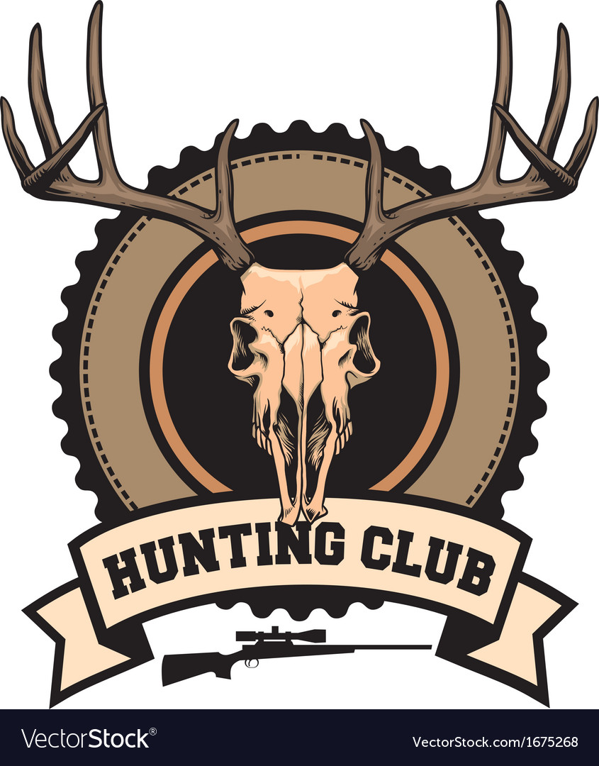 Hunting club design vector | Price: 1 Credit (USD $1)