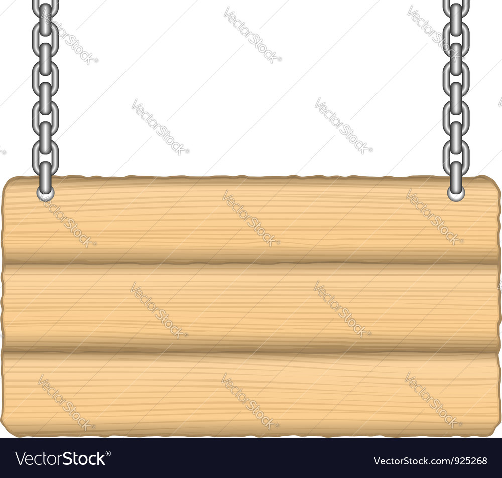Old wooden sign vector | Price: 1 Credit (USD $1)