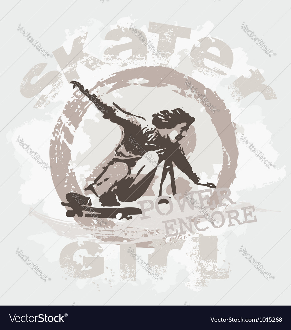 Skater girl vector | Price: 1 Credit (USD $1)