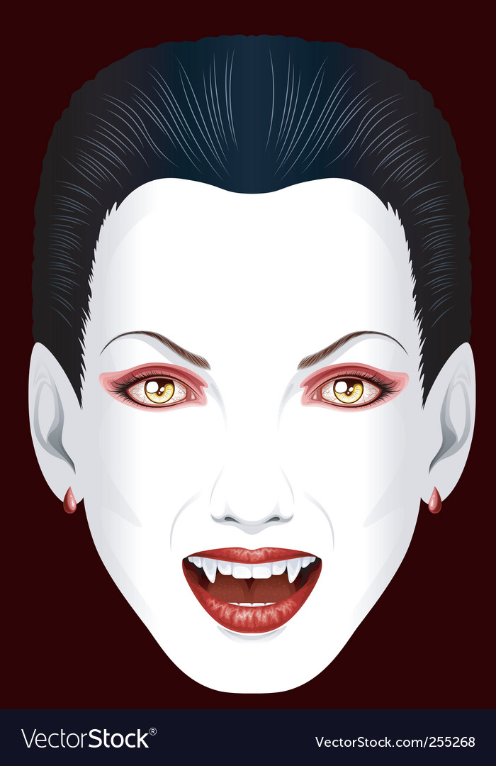 Vampires grin vector | Price: 3 Credit (USD $3)