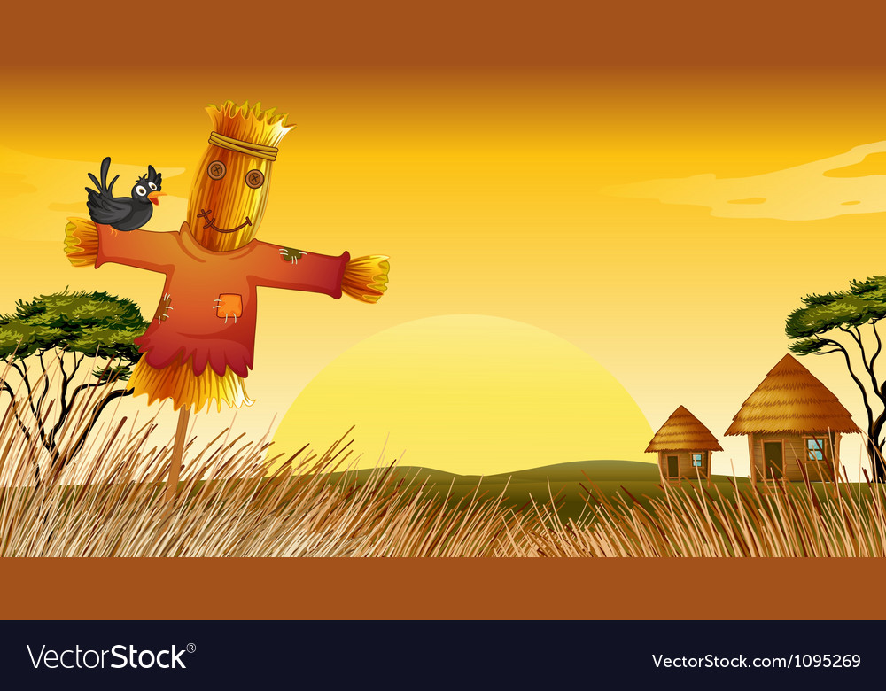 A man statue and farm vector | Price: 1 Credit (USD $1)