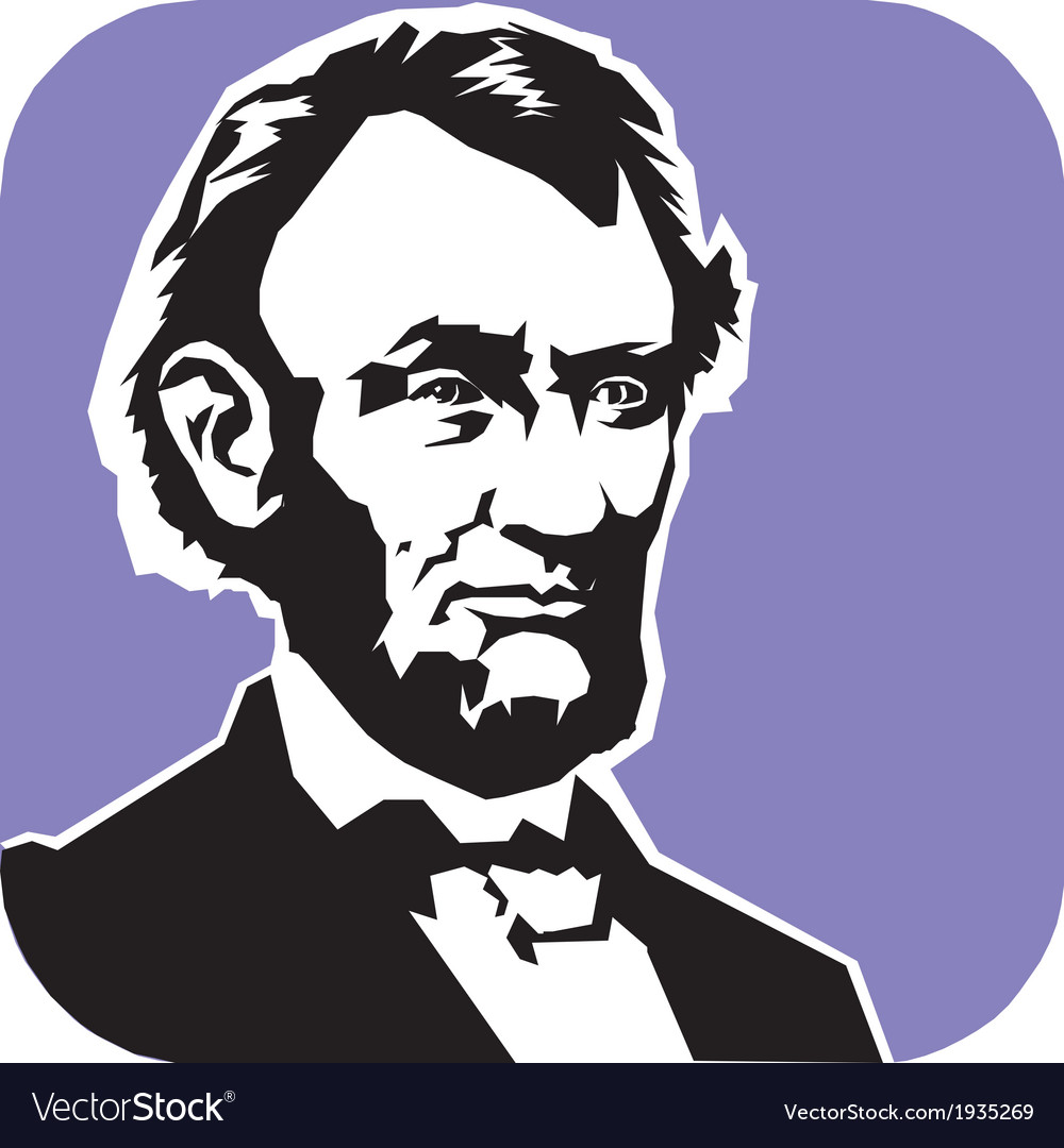 Abraham lincoln vector | Price: 1 Credit (USD $1)