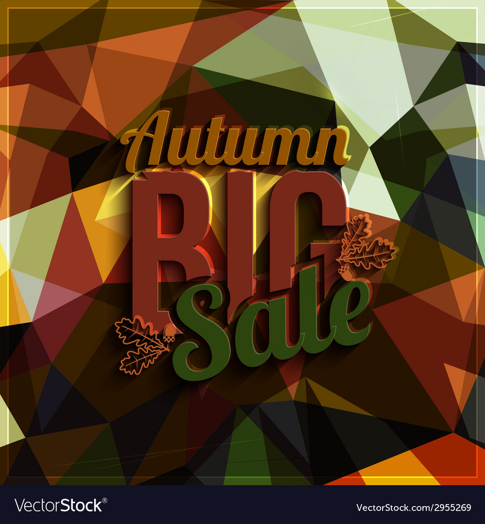 Autumn sale typography on triangular background in vector | Price: 1 Credit (USD $1)