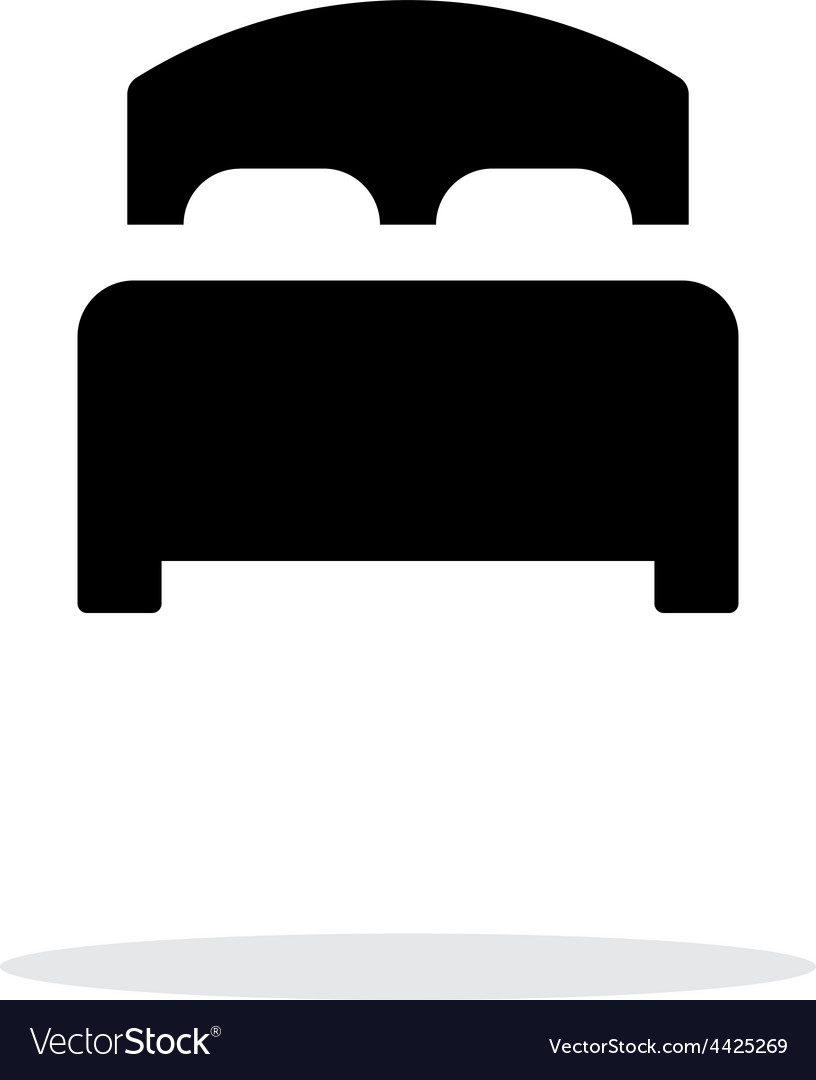 Full bed simple icon on white background vector | Price: 1 Credit (USD $1)