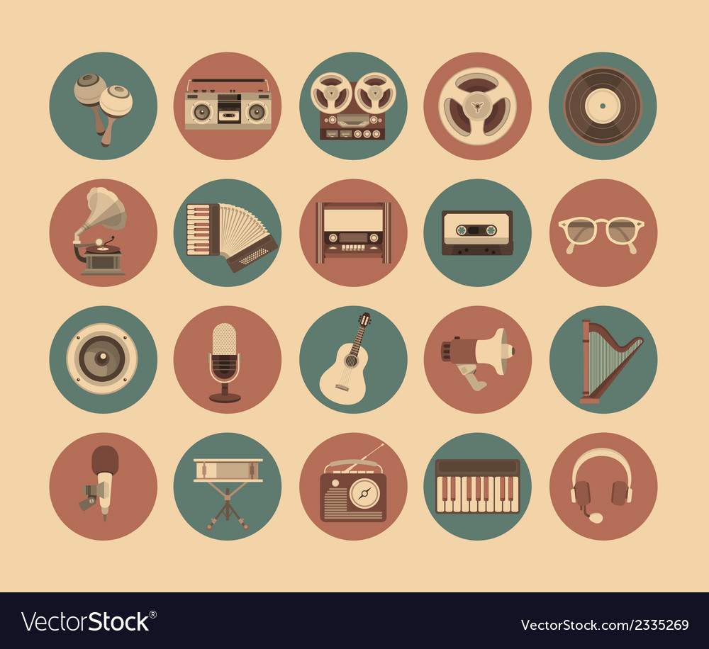 Icons musical instruments vector | Price: 1 Credit (USD $1)