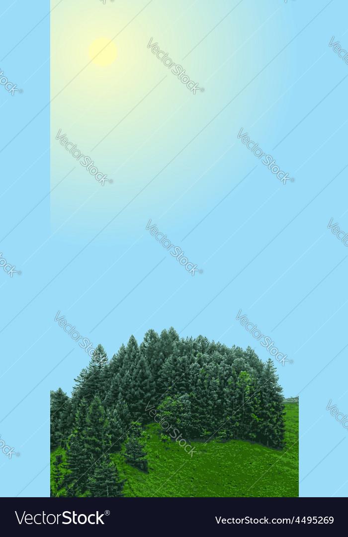 Landscape vertical banner vector | Price: 1 Credit (USD $1)