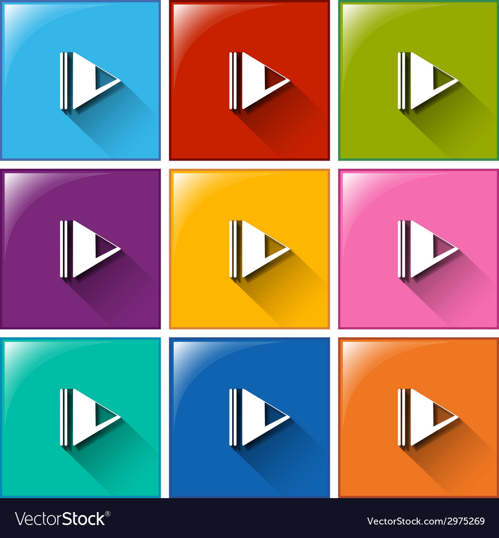 Play icons vector | Price: 1 Credit (USD $1)