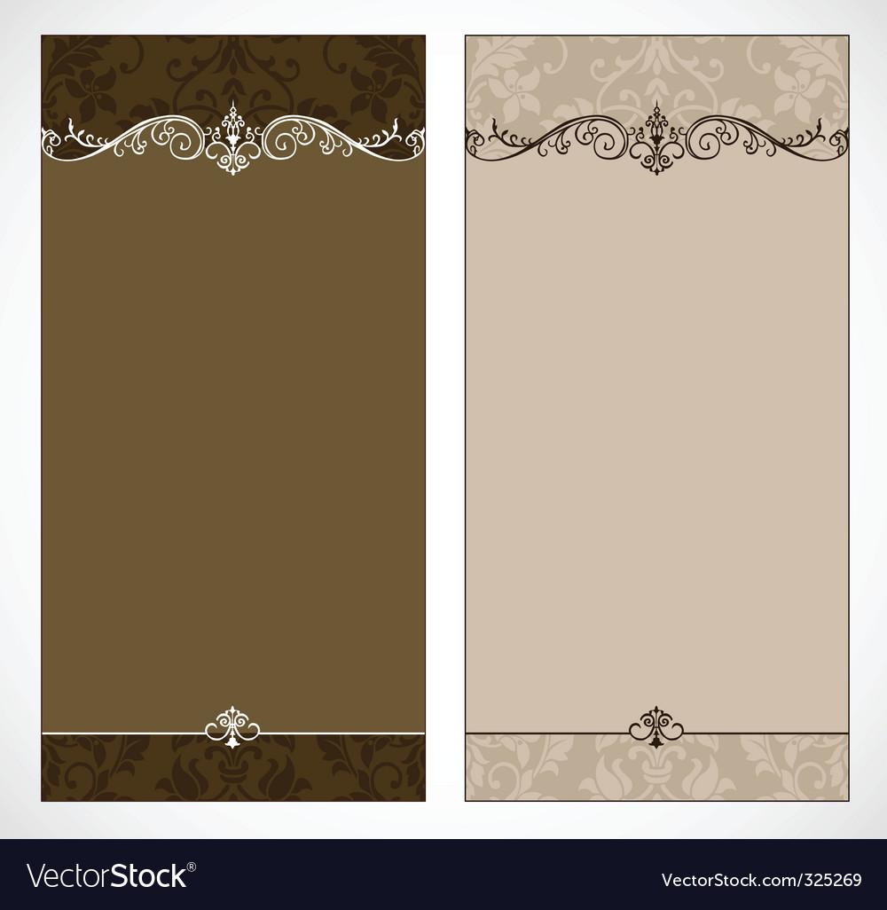 Vintage brochure vector | Price: 1 Credit (USD $1)