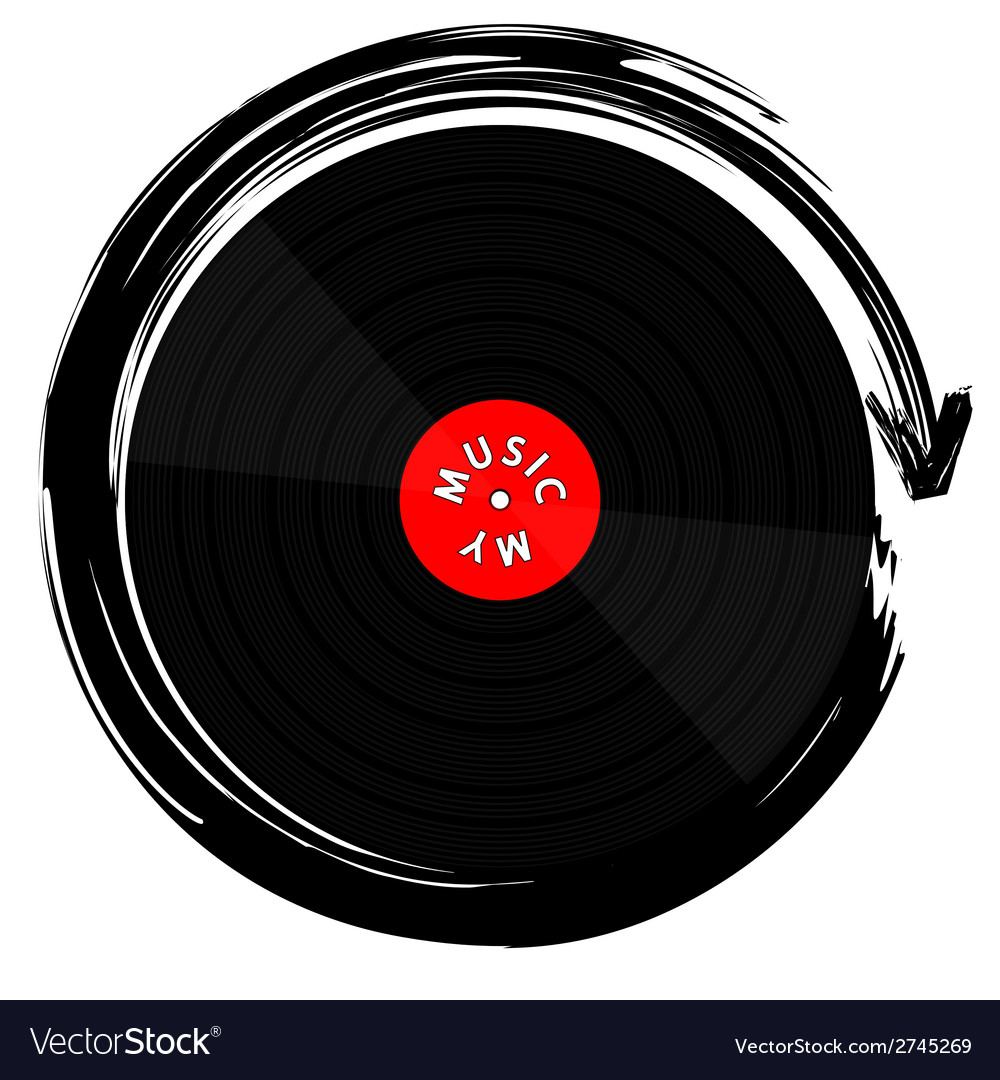 Vinyl record-lp vector | Price: 1 Credit (USD $1)