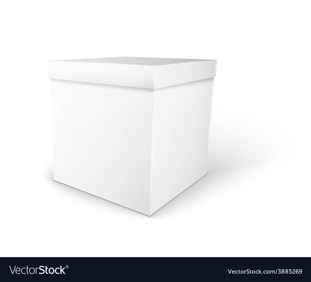 White package box vector | Price: 1 Credit (USD $1)